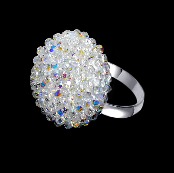 SI Ring created with Swarovski® Crystals and Sterling Silver