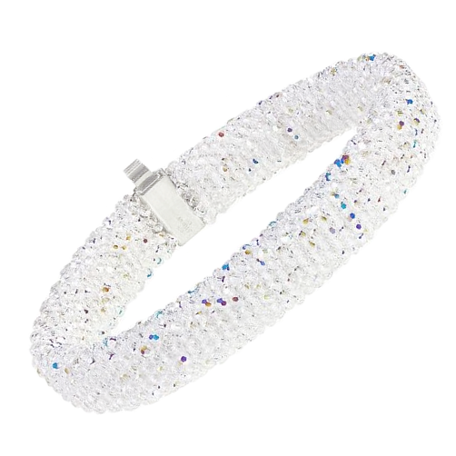 SI Bracelet created with Swarovski® Crystals and Sterling Silver