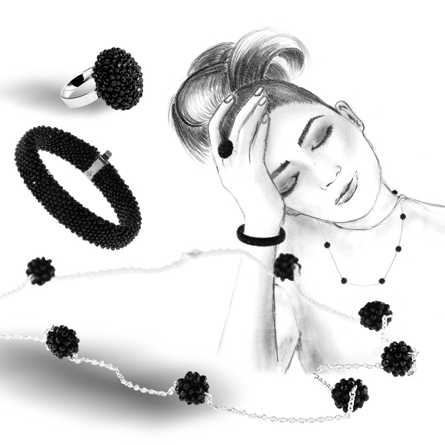 Si Collection made with Swarovski® Crystals and Sterling Silver